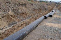 PE给水管施工沟槽开挖及基础处理